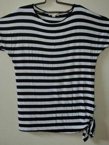 Michael Michael Kors Striped Side-Tie Top Sz M